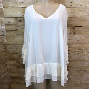 Lane Bryant Cream Chiffon Career Blouse 18/20